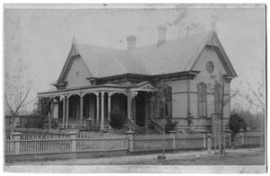 Primary view of object titled '[Two Story House with Front Porch]'.