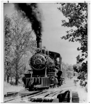 Primary view of object titled 'Steam Engine of the Moscow, Camden and San Augustine Railroad'.