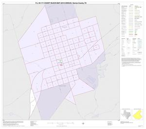 Primary view of object titled 'P.L. 94-171 County Block Map (2010 Census): Karnes County, Inset D01'.