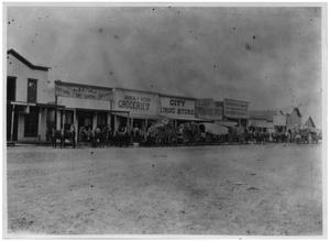 Primary view of object titled 'Street Scene in Plainview, Texas'.