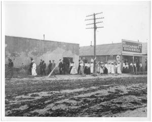 Primary view of object titled '[Street Scene of Ranger, Texas]'.