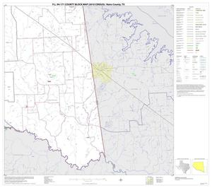 Primary view of object titled 'P.L. 94-171 County Block Map (2010 Census): Rains County, Block 6'.