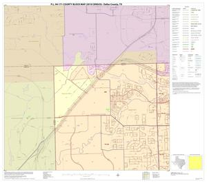 Primary view of object titled 'P.L. 94-171 County Block Map (2010 Census): Dallas County, Block 1'.