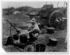 Primary view of object titled 'Jim King, Cook on the W Ranch'.
