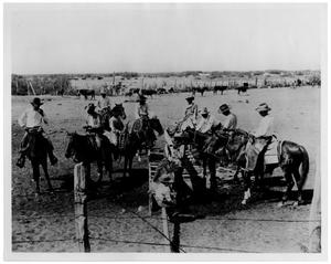 Primary view of object titled 'Cowboys Getting Ready for a Roundup'.