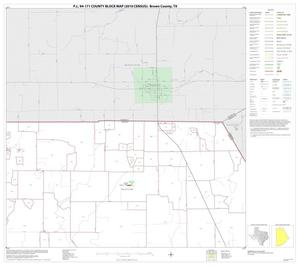 Primary view of object titled 'P.L. 94-171 County Block Map (2010 Census): Brown County, Block 2'.