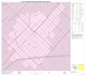 Primary view of object titled 'P.L. 94-171 County Block Map (2010 Census): Dallas County, Inset K01'.
