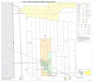 Primary view of object titled 'P.L. 94-171 County Block Map (2010 Census): Cameron County, Block 13'.