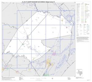 Primary view of object titled 'P.L. 94-171 County Block Map (2010 Census): Refugio County, Index'.