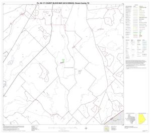 Primary view of object titled 'P.L. 94-171 County Block Map (2010 Census): Brown County, Block 16'.