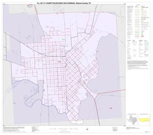 Primary view of object titled 'P.L. 94-171 County Block Map (2010 Census): Marion County, Inset D01'.
