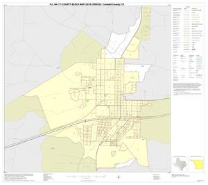 Primary view of object titled 'P.L. 94-171 County Block Map (2010 Census): Crockett County, Inset A01'.