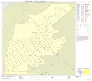 Primary view of object titled 'P.L. 94-171 County Block Map (2010 Census): Llano County, Inset A01'.
