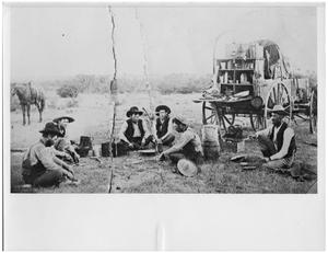 Primary view of object titled 'Cowboys Having Dinner in Coke County, Texas'.