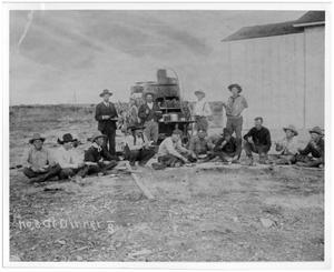 Primary view of object titled 'Cowboys Having Dinner at the Bar S Ranch'.