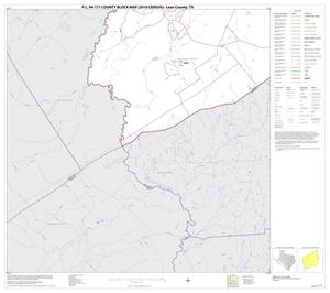 Primary view of object titled 'P.L. 94-171 County Block Map (2010 Census): Leon County, Block 21'.