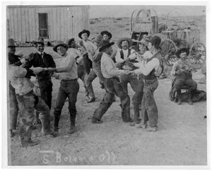 Primary view of object titled 'Cowboys at the Bar S Ranch'.