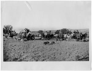 Primary view of object titled 'Round-up at Bar O-T-O Ranch'.