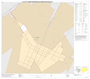 Primary view of object titled 'P.L. 94-171 County Block Map (2010 Census): Ellis County, Inset P01'.