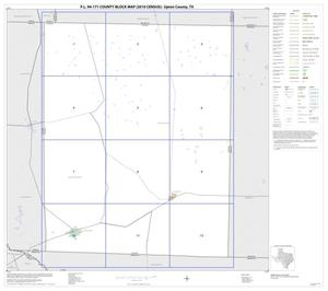 Primary view of object titled 'P.L. 94-171 County Block Map (2010 Census): Upton County, Index'.
