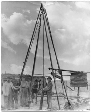 Primary view of object titled '[Early Oil Rig]'.