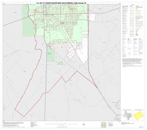 Primary view of object titled 'P.L. 94-171 County Block Map (2010 Census): Falls County, Inset B02'.