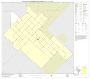 Primary view of object titled 'P.L. 94-171 County Block Map (2010 Census): Clay County, Inset A01'.