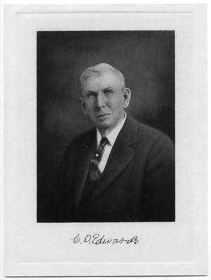 Primary view of object titled '[Portrait of C.O. Edwards]'.