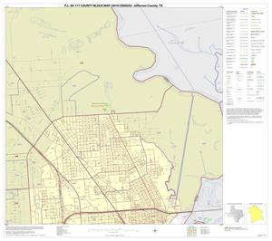 Primary view of object titled 'P.L. 94-171 County Block Map (2010 Census): Jefferson County, Inset B01'.