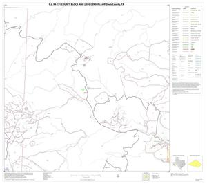 Primary view of object titled 'P.L. 94-171 County Block Map (2010 Census): Jeff Davis County, Block 20'.