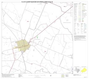 Primary view of object titled 'P.L. 94-171 County Block Map (2010 Census): DeWitt County, Block 14'.