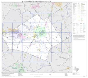 Primary view of object titled 'P.L. 94-171 County Block Map (2010 Census): Bell County, Index'.