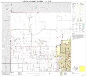 Primary view of object titled 'P.L. 94-171 County Block Map (2010 Census): Gray County, Block 1'.