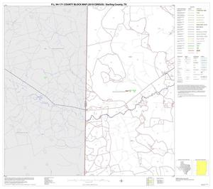Primary view of object titled 'P.L. 94-171 County Block Map (2010 Census): Sterling County, Block 4'.
