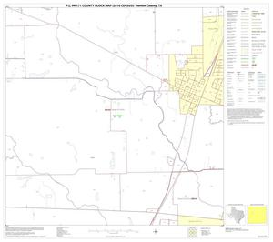 Primary view of object titled 'P.L. 94-171 County Block Map (2010 Census): Denton County, Block 33'.
