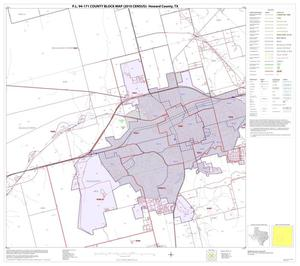 Primary view of object titled 'P.L. 94-171 County Block Map (2010 Census): Howard County, Block 10'.