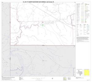 Primary view of object titled 'P.L. 94-171 County Block Map (2010 Census): Jack County, Block 17'.