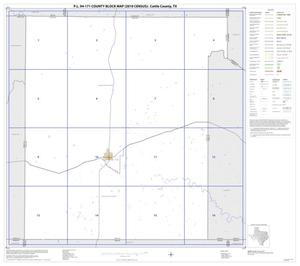 Primary view of object titled 'P.L. 94-171 County Block Map (2010 Census): Cottle County, Index'.