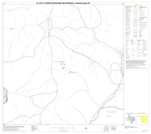 Primary view of object titled 'P.L. 94-171 County Block Map (2010 Census): Crockett County, Block 26'.