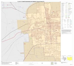 Primary view of object titled 'P.L. 94-171 County Block Map (2010 Census): Harrison County, Inset B01'.