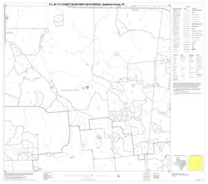 Primary view of object titled 'P.L. 94-171 County Block Map (2010 Census): Stephens County, Block 11'.