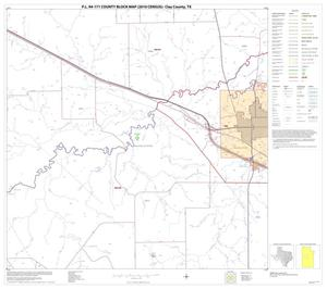 Primary view of object titled 'P.L. 94-171 County Block Map (2010 Census): Clay County, Block 13'.
