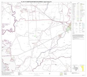 Primary view of object titled 'P.L. 94-171 County Block Map (2010 Census): Jasper County, Block 8'.