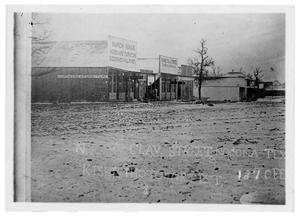 Primary view of object titled '[Clay Street in Nocona Texas]'.