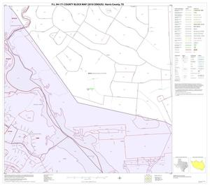 Primary view of object titled 'P.L. 94-171 County Block Map (2010 Census): Harris County, Block 37'.