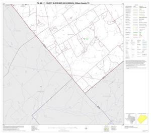 Primary view of object titled 'P.L. 94-171 County Block Map (2010 Census): Wilson County, Block 19'.