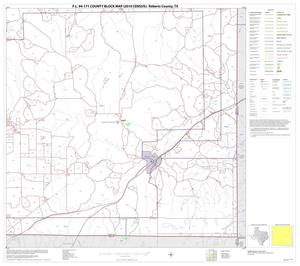 Primary view of object titled 'P.L. 94-171 County Block Map (2010 Census): Roberts County, Block 4'.