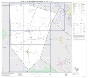 Primary view of object titled 'P.L. 94-171 County Block Map (2010 Census): Blanco County, Index'.