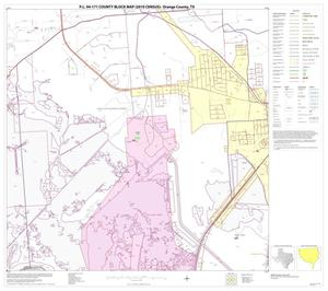 Primary view of object titled 'P.L. 94-171 County Block Map (2010 Census): Orange County, Block 21'.