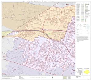 Primary view of object titled 'P.L. 94-171 County Block Map (2010 Census): Bell County, Inset D01'.